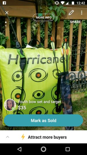New Jr youth bow set with target with tags for Sale in Rhinelander, WI