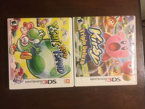 Nintendo 3ds 2x games Yoshi and Kirby lot for Sale in Los Angeles, CA