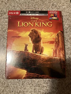 Lion King 4K AND blu ray sealed for Sale in South Gate, CA