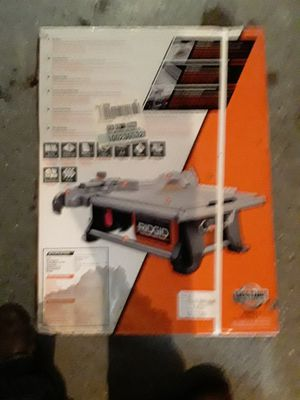 Rigid 7inch table top wet tile saw for Sale in Cleveland, OH