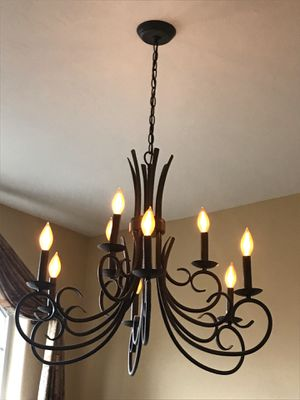 Burnished bronze chandelier for Sale in Idaho Falls, ID