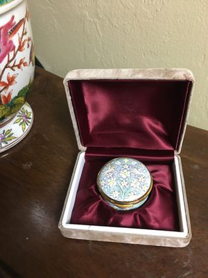 English Enamel Trinket Box Staffordshire Spode~ Shakespeare for Sale in Naples, FL