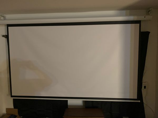 110 inch motorized home theater projector screen