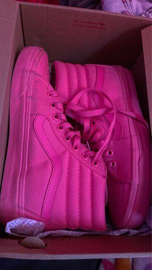 Neon pink Hi-top vans for Sale in WARRENSVL HTS, OH