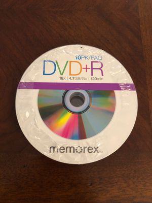 DVD+R blank discs 10-pack for Sale in Fort Lauderdale, FL