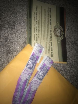 Electric Forest wristbands for Sale in North Potomac, MD