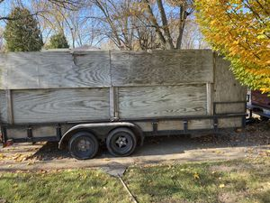 18ft trailer with walls built up for Sale in Pontiac, MI