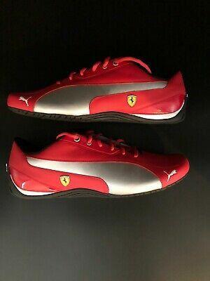 Brand New PUMA Mens Ferrari Drift Red/Silver size 11.5, BEST OFFER