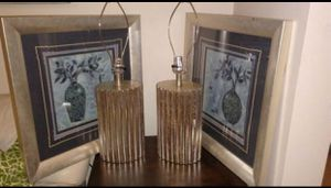 Blue Ridge Frame Art Work & Silver Lamps for Sale in Richmond, VA