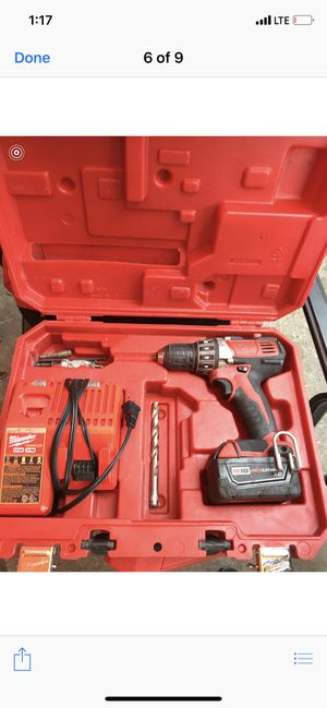 Milwaukee drill m18 red lithium for Sale in Queens, NY