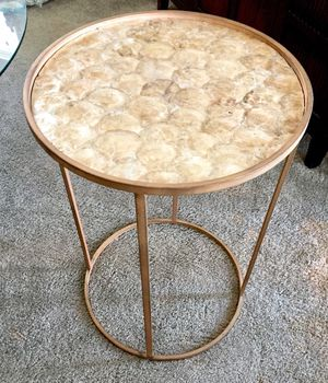 Gold/bronze seashell table for Sale in San Diego, CA
