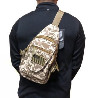 NEW! Small Compact camouflage Tactical Military Style Sling Side Crossbody Bag gym bag work bag travel backpack camping hiking biking chest bag for Sale in Carson, CA