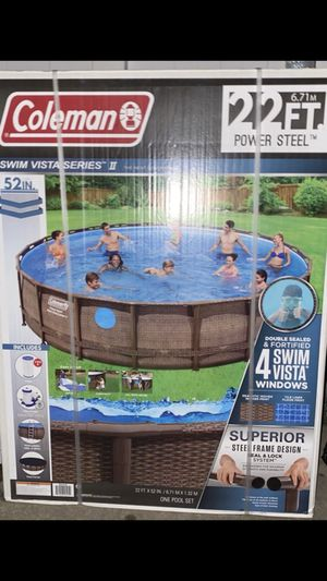 Coleman swimming pool 22' x 52in for Sale in The Bronx, NY