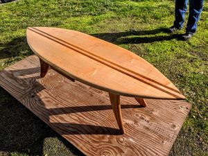 Surf Board Coffee Table custom made by Brian Kawal for Sale in Seattle, WA