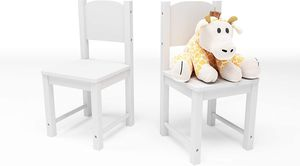 Timy Toddler Wooden Chair Pair, Kids Furniture for Eating, Reading, Playing 2 Pack (White) for Sale in Henderson, NV