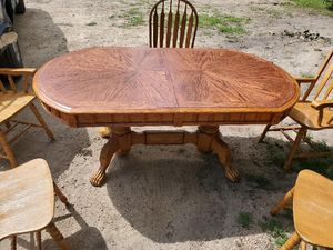 Oak dinning table with 5 chairs $200.00 - O.B.O for Sale in Eau Claire, WI