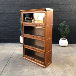 Vintage Barristers Oak Bookcase with Glass Doors for Sale in Commerce,  CA