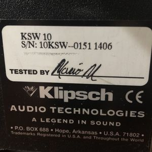 Subwoofer Klipsch KSW 10-inch 225 W for Sale in Kent, WA