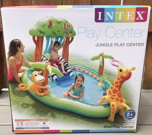 "Intex 85"" X 74"" X 49"" Jungle Play Center Inflatable Pool with Sprayer for Sale in Portland, OR"