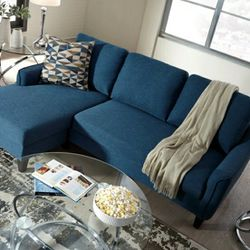 $39 DOWN Payment only Jarreau Blue Sofa Chaise Sleeper for Sale in Baltimore,  MD
