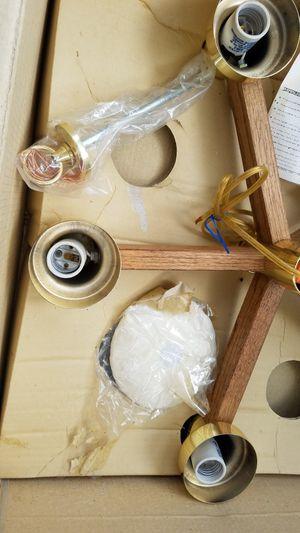 Retro 5 light chandelier nib no globe bulbs for Sale in Lacey, WA