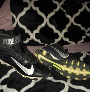 Nike size 10 1/2 football cleats for Sale in Sanger, CA
