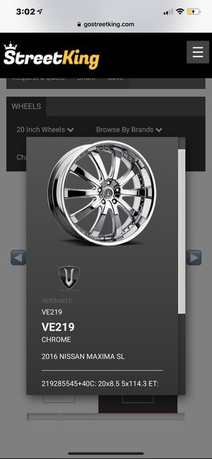 VERSANTE 22 in Chrome Rims for Sale in Beaumont, MS