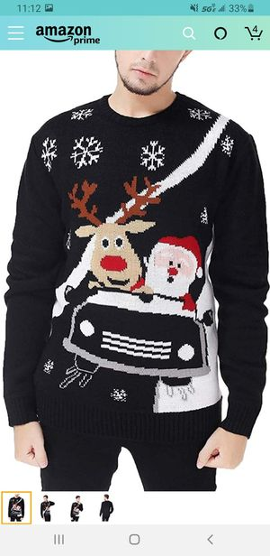New tags M//v28 Men's Christmas Reindeer Snowman Penguin Santa and Snowflakes Sweater for Sale in Las Vegas, NV