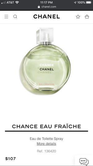 CHANEL Chance Eau Fraiche for Sale in Jurupa Valley, CA