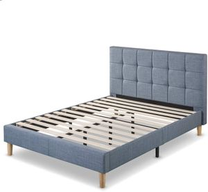 SALE!!!! New in box Zinus Lottie Upholstered Platform Blue Bed Frame King size for Sale in Columbus, OH