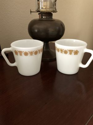 2 - Vintage Pyrex Butterfly Coffee Cups Mugs for Sale in San Angelo, TX