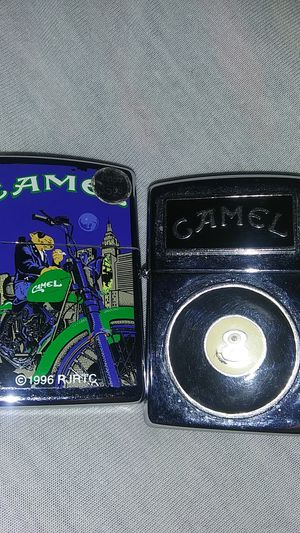 Camel cigarette tin and 2 Zippo lighters. New never use. for Sale in Tolleson, AZ