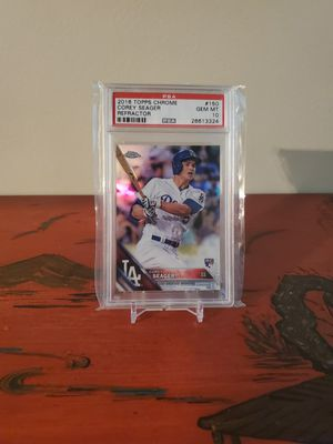 💎 MINT! Corey Seager 2016 topps CHROME refractor rookie card for Sale in Alexandria, VA