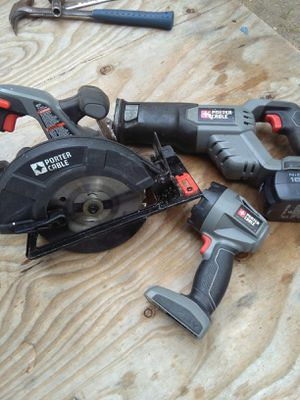 Porter cable sawsall skills as and light with charger and battery for Sale in Kolin, LA