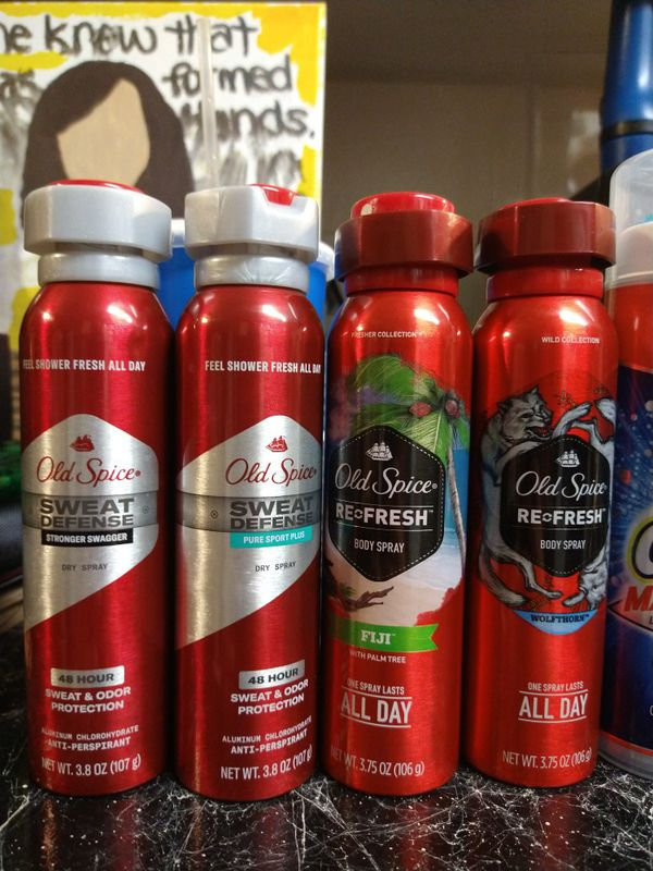 Old spice spray deodorant