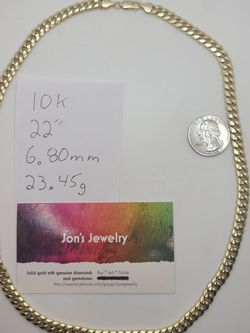 """10k Gold 22"""" Miami Cuban Link Necklace for Sale in Croydon,  PA"""