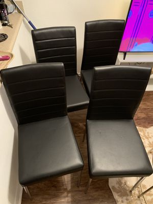 Coaster black chairs set of (4) for Sale in US