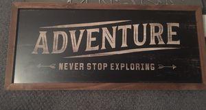 Adventure sign decor 23.5x10.5in for Sale in North Brunswick Township, NJ