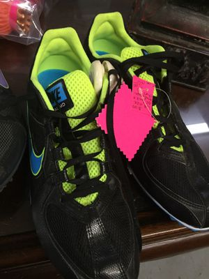 Sz 9 black nike track shoes for Sale in Conway, AR