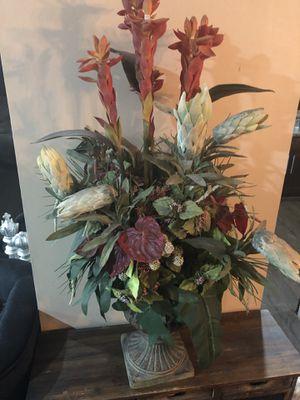 Gorgeous artificial silk floral arrangement home decor for Sale in Davie, FL