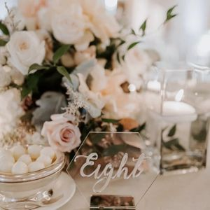Chic, Clear Wedding Table Numbers (#1-13) for Sale in Belmont, CA