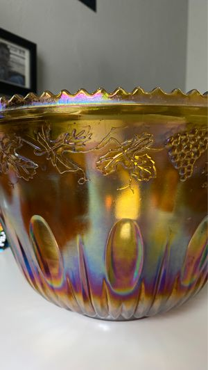 Fruit bowl Punch Bowl Carnival Glass for Sale in Arlington, TX