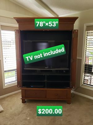 TV Entertainment Center with Cabinet Door for Sale in Downey, CA