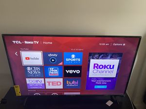 TCL 55 inch 4K Smart LED Roku TV 2019 for Sale in Seattle, WA