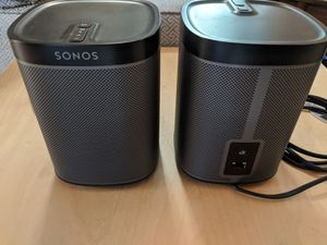 2 Sonos Play 1 Compact Wireless Smart Speakers for Sale in Fort Lauderdale, FL