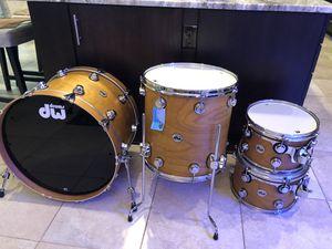 DW collector's cherry/spruce 4 piece drum kit for Sale in Odessa, FL