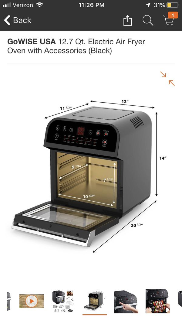 Go Wise 12.7 QT Electric Air Fryer Oven