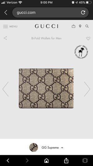 BRAND NEW Gucci Tiger Print GG Supreme bi-fold wallet for men for Sale in Mountain House, CA
