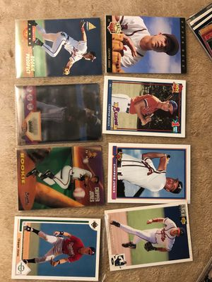 CARDS BASEBALL CHIPPER JONES ROOKIE MORE 62 CARDS NEW for Sale in Downey, CA