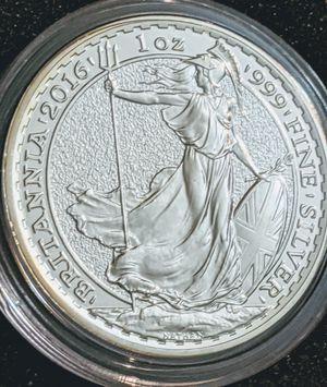 2016 Britannia, 1oz .999 Silver 2Pounds for Sale in Pittsfield, MA